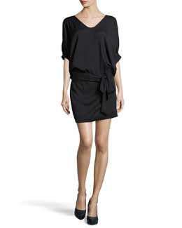 Diane Von Furstenberg Edna Woven Dress, Black