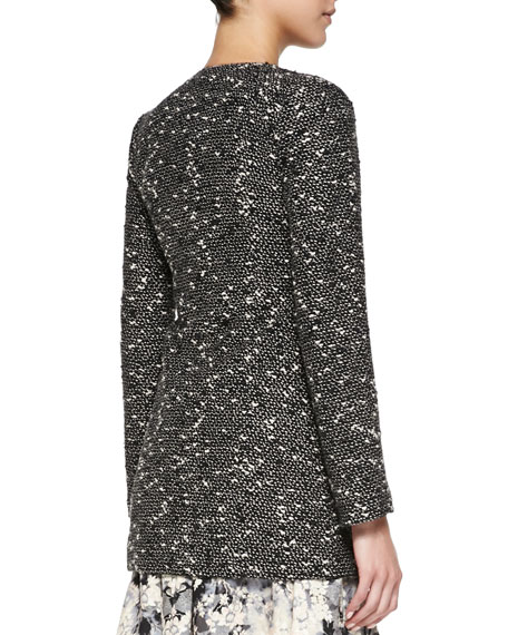 Incognito Fur-Trim Tweed Topper