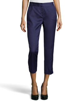 Diane Von Furstenberg Georginne Woven Crop Pants, New Denim