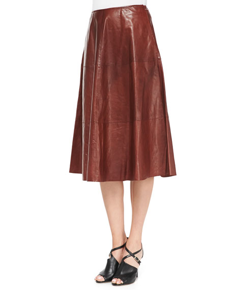 Glazed Weightless Lambskin Skirt