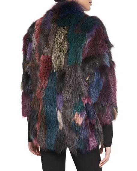 Lolo Multicolor Fox Fur Jacket