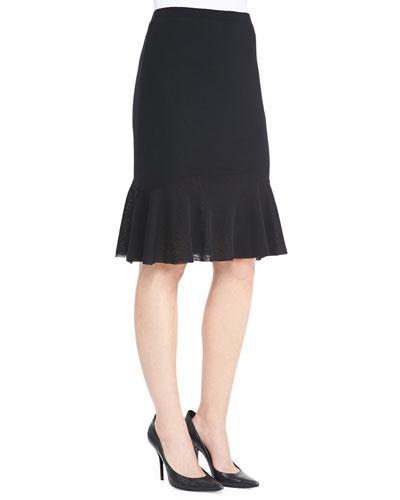 Fuzzi Flared-Hem Tulle Skirt