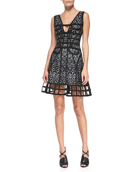 Lora Sleeveless Sundial Dress
