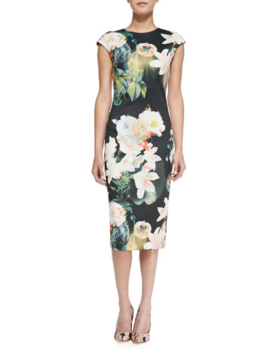 Ted Baker London Opulent Bloom Floral-Print Midi Dress