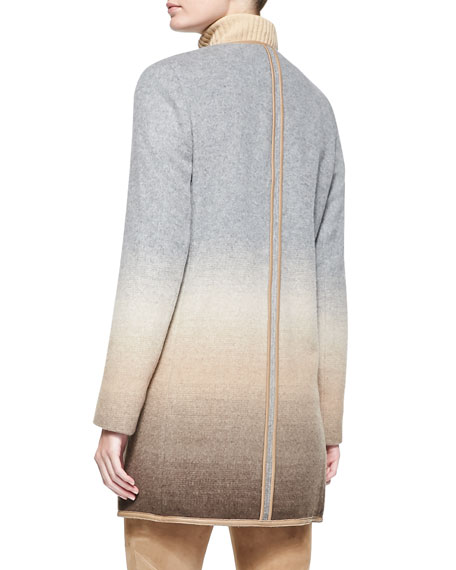 Shira Ombre Wool-Blend Topper