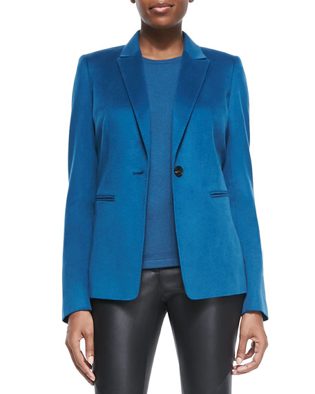 Stelly One-Button Blazer, Peacock