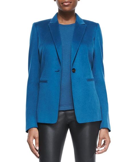 Stelly One-Button Blazer, Peacock