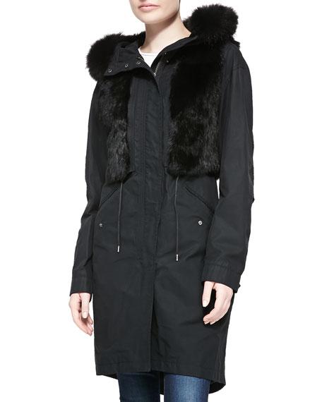 Andrew Marc Jade Utility Jacket w/ Fur Trim