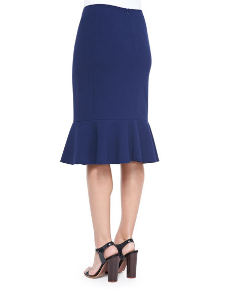 Kayline Peplum-Hem Pencil Skirt