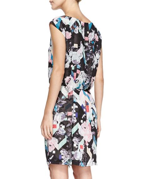 Jenson Printed Gathered Dress