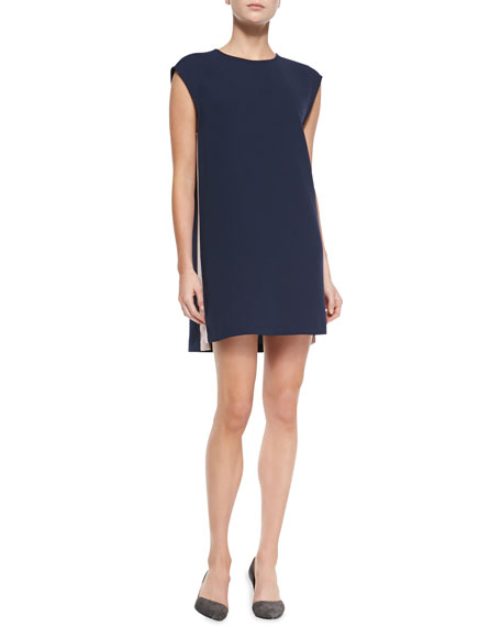 Lars Shift Dress with Colorblocked Sides