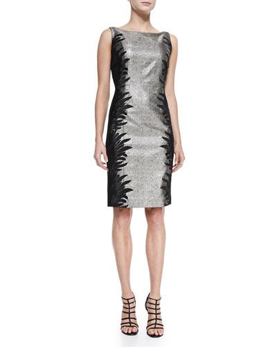Sleeveless Two-Tone Cocktail Dress, Women's