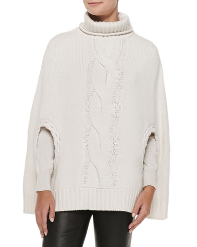 L'Agence Pullover Capelet with Braid Detail
