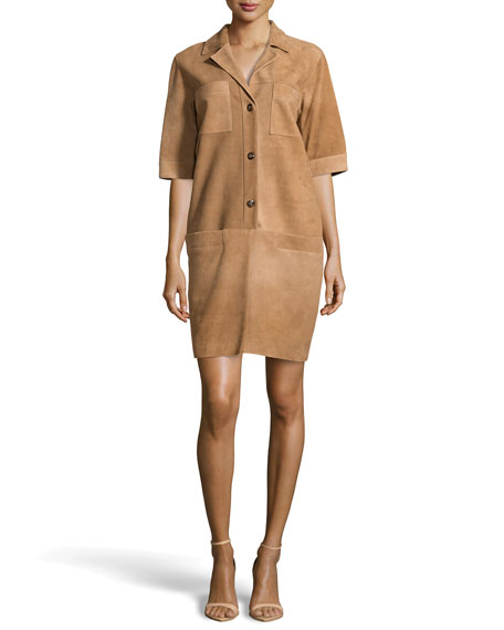 Suede Shirtdress, Savannah