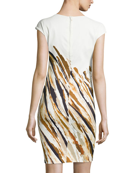 Dolene Striated Dress, Fantasy
