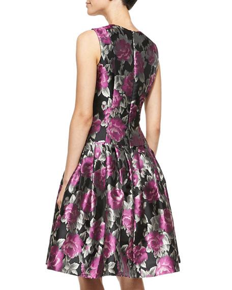 Flared Floral Cocktail Dress
