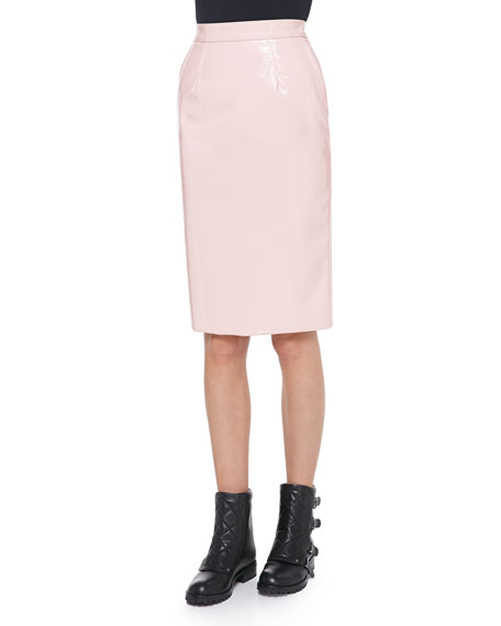 marc by marc emi shiny plastic pencil skirt