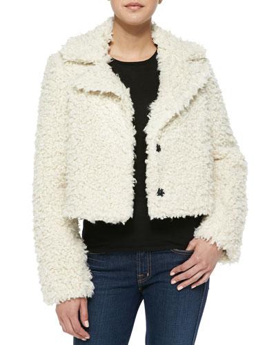 Smythe Faux-Fur Cropped Jacket