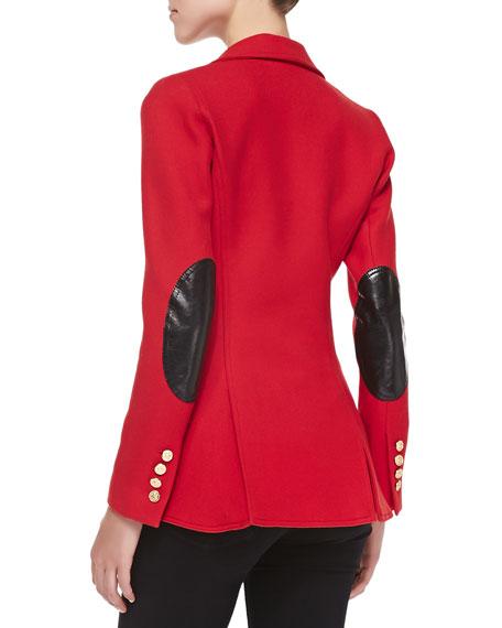 Classic Equestrian-Style Wool Blazer
