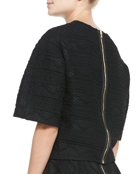 Ida Structured Arch-Hem Top