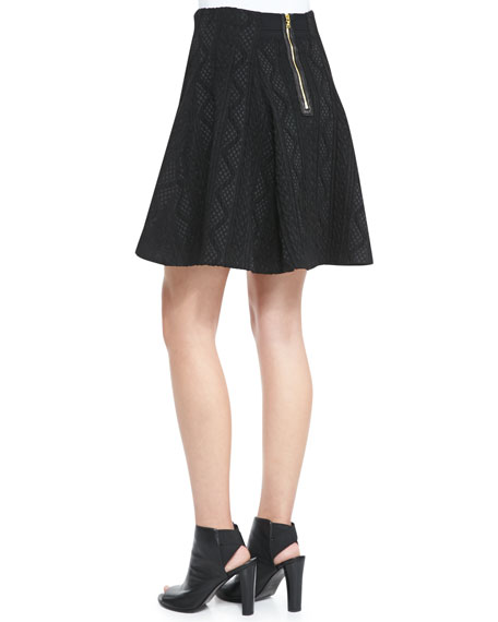 Sibel High-Low Patterned Skirt