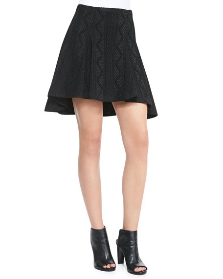 Alice + Olivia Sibel High-Low Patterned Skirt
