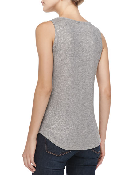 Metallic Slub Easy Tank