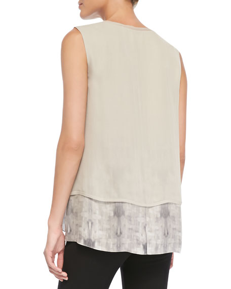 Rudy Sleeveless Two-Tiered Blouse