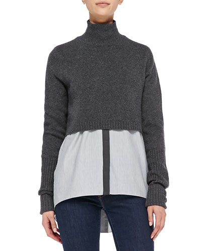Elie Tahari Raleigh Cashmere Cropped Sweater