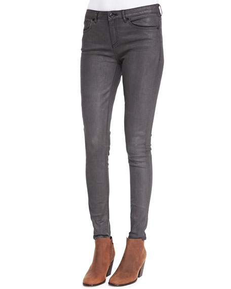 Elie Tahari Azella Leather-Coated Jeans