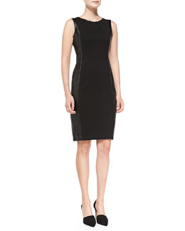 NYDJ Mia Side Croc-Panel Sheath Dress