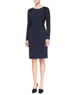 NYDJ Portia Long-Sleeve Contour Sheath Dress