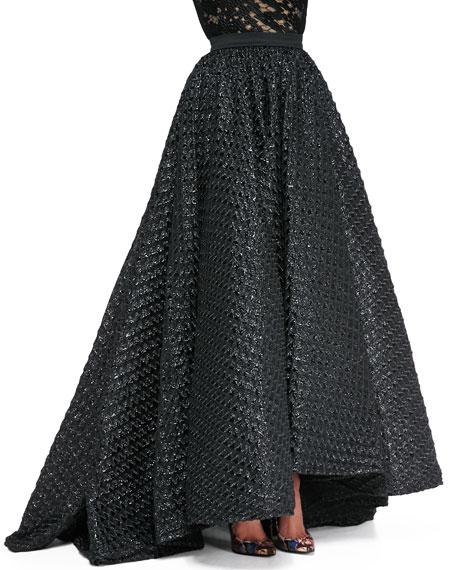 Waffle-Texture Ball Skirt