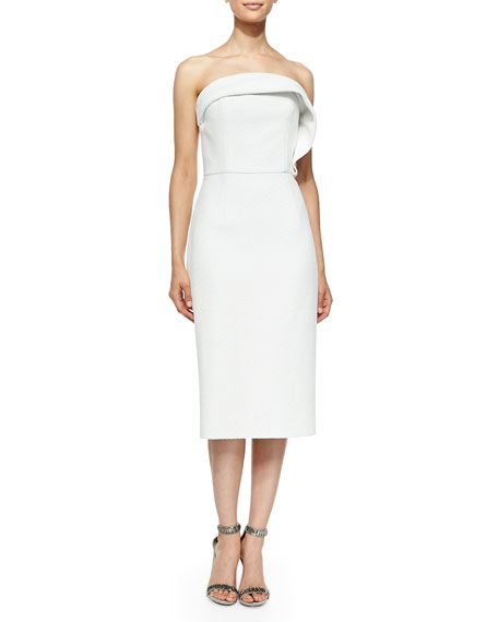 Christian Siriano Draped Ruffle Cocktail Dress