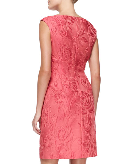 Sleeveless Jacquard Cocktail Dress
