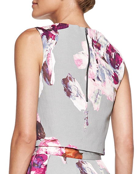 Mara Floral-Print Crop Top