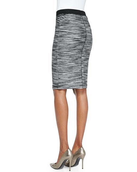 Ashby Slim Space-Dye Pencil Skirt