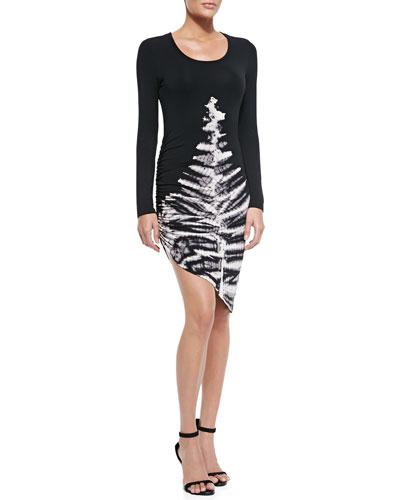 Young Fabulous and Broke Blais Long-Sleeve Skeleton-Print Dress