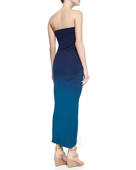 Hamlin Strapless Gathered Maxi Dress