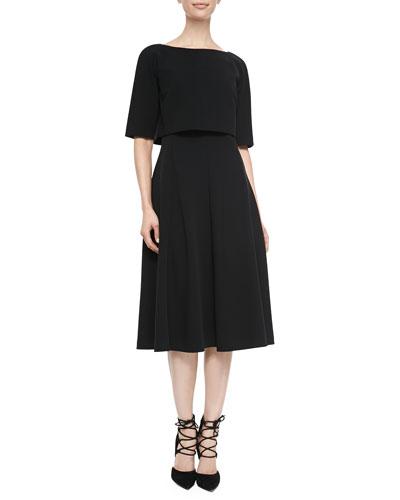 Lafayette 148 New York Julissa Elbow-Sleeve Popover Top Dress