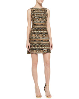 Alice + Olivia Wilcox Sleeveless A-Line Dress