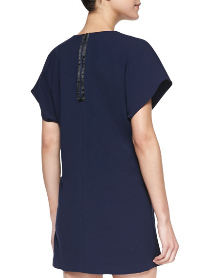 Bema V-Neck Crepe Tunic Dress
