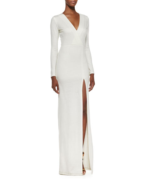 Debbie Faux Wrap-Front Maxi Dress