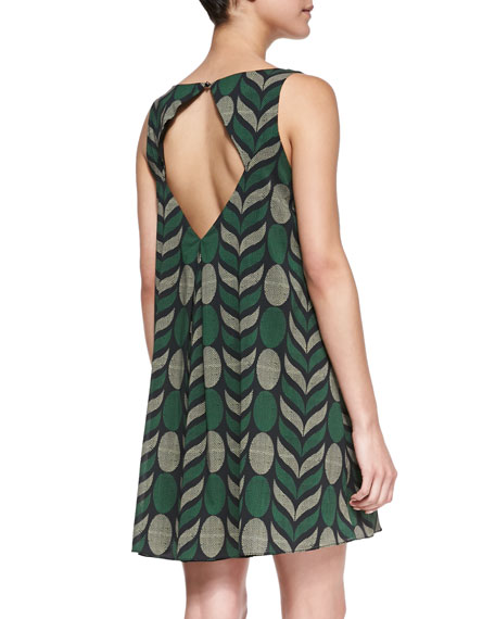 Lana Geometric-Print Voile Dress