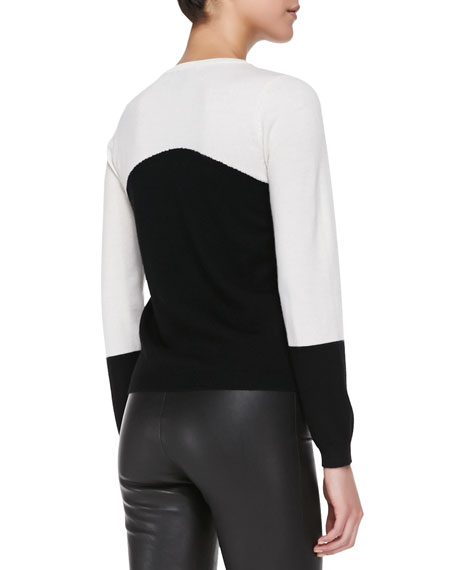 Crewneck Rhinestone Panda Sweater