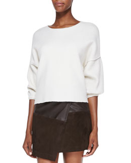 Alice + Olivia Audreana Boxy Fleece Sweater