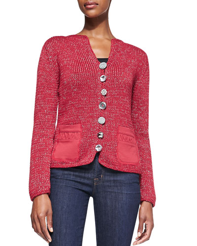 Fall Breeze Cardigan w/ Jeweled Buttons