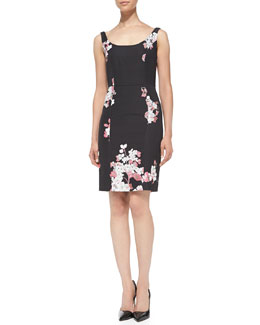 Milly Sophia Floral-Print Sheath Dress