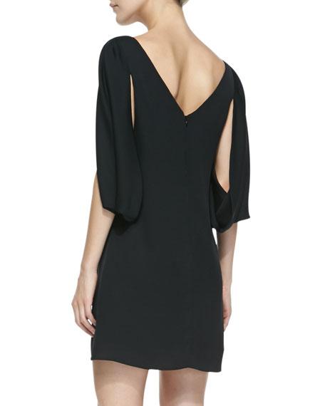 Monarch Silk Slit-Sleeve Dress