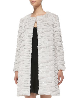 Milly Faux-Fur Long Coat